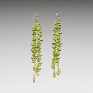 PERIDOT TIP DRILLED EARRINGS