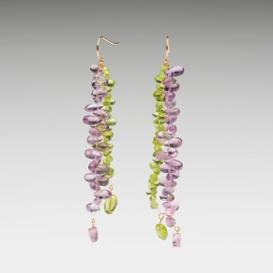AMETHYST & PERIDOT EARRINGS