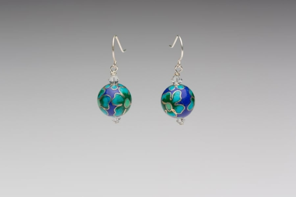 ENAMEL EARRINGS - CRYSTAL