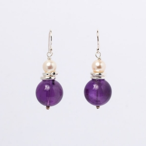 AMETHYST EARRINGS - TWO RINGS