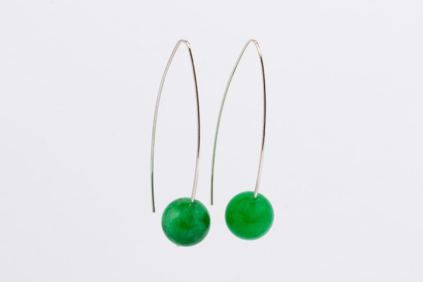JADE EARRINGS - 5CM DROP