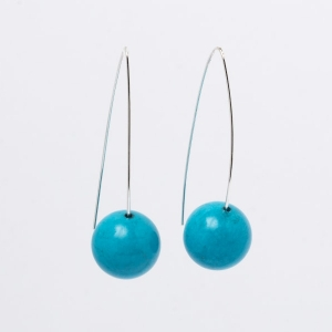 TURQUOISE EARRINGS - 16MM