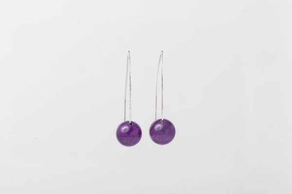 AMETHYST EARRINGS - 5CM DROP