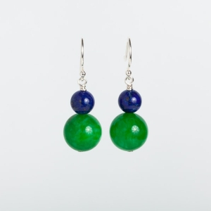 JADE AND LAPIS EARRINGS