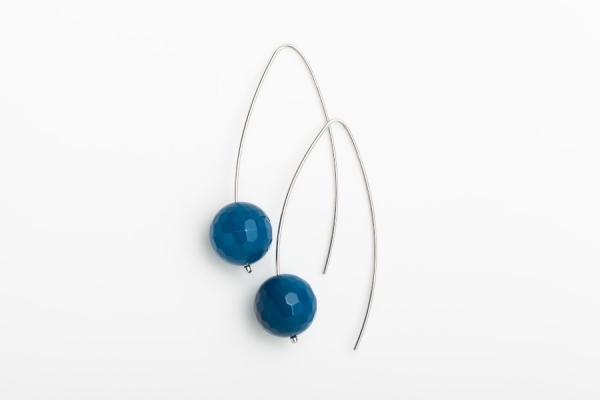 BLUE MARINE QUARTZ EARRINGS WITH 5CM DROP