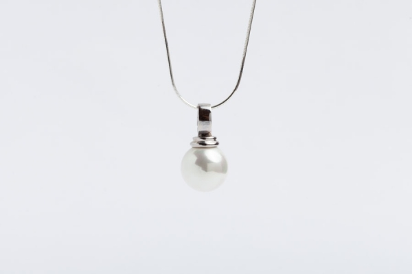 14MM WHITE SEASHELL PEARL PENDANT WITHOUT CHAIN